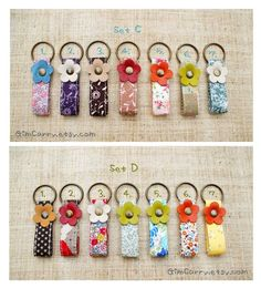 Gifts Under 10 dollars Get 5 mini fabric keyrings par GimCarry Sewing Crafts, Sewing Projects, Gifts Under 10, Couture Sewing, Button Crafts, Key Fobs, Fabric Scraps, Felt Crafts, Craft Fairs