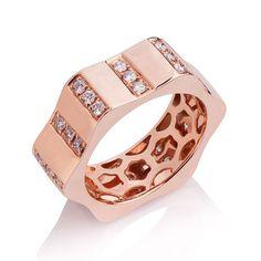 Rose Gold Diamond Stella Ring
