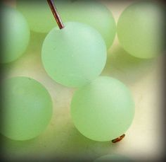 ... Frosted Sea Glass Beads 8mm