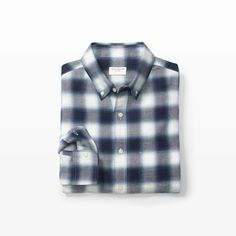 CLUB MONACO Slim Winter Ombre Shirt. #clubmonaco #cloth #all