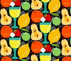 lemonade party fabric by oleynikka on Spoonflower - custom fabric