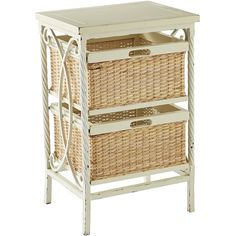 Pier 1 Imports Logan Low Chest (825 VEF) ❤ liked on Polyvore featuring home, furniture, storage & shelves, dressers, white, handmade rustic furniture, low dresser, white dresser, handmade furniture and handmade baskets