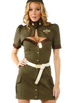 Being Outstanding Short Cropped Jacket Sexy Cosplay Women Military Army Costume Halloween Sexy Army Uniform Costume Army Girl Costumes, Army Costume, Military Costumes, Costumes For Women, Couple Costumes, Mode Halloween, Halloween Fashion, Halloween Costumes, Group Halloween