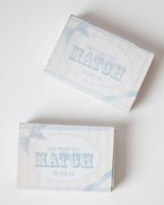 DIY Details: Perfect Match Template on supermarket matchboxes