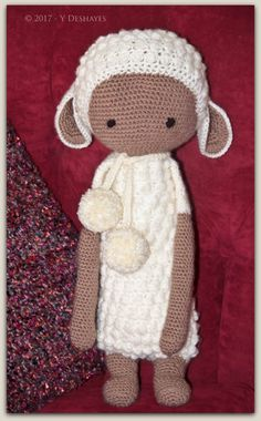 LUPO the lamb made by Yvonne D. / crochet pattern by lalylala