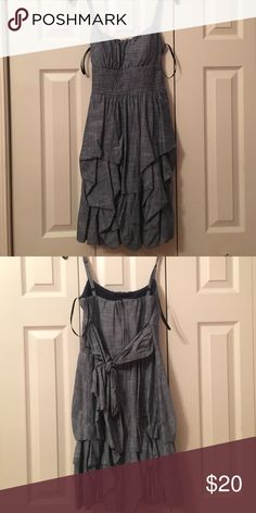 Dressbarn denim dress size 4 An adorable dress for your next picnic or date night! Denim is your new BFF with the 90's trend. Gently worn Dress Barn Dresses