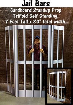 Jail Bars Cardboard Cutout Standup Prop -For Paul and Silas lesson