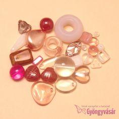Rózsaszín-fukszia vegyes cseh gyöngy, 15 g • Gyöngyvásár.hu Pearl Earrings, Pearls, Jewelry, 1st Grades, Pearl Studs, Jewlery, Jewerly, Beads, Schmuck