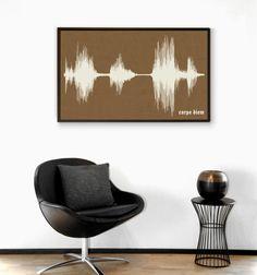 Sound wave canvas art. =]