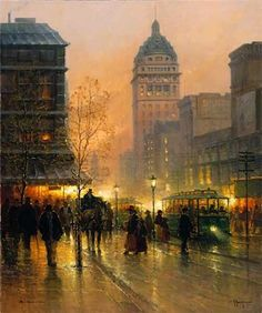 G. Harvey Lights of San Francisco Serigraph Deluxe Edition