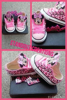 Minnie Mouse Converse by Alaiyacloset on Etsy