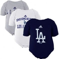 LA Dodgers, Lakers, Kings, LA Clippers Onesie, Baby Apparel 6m, 12m, creeper sets. MLB baby bibs and booties. NBA baby onesie jerseys.  Also toddler, preschool and youth apparel for Los Angeles sports teams.
