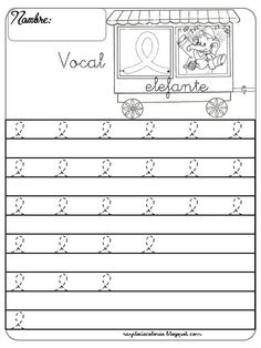 Caligrafía con la vocal e
