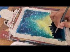 Hello :) This is a painting of a galaxy night sky. Materials used: Fabriano mix media paper Sakura koi watercolors Watercolor Brush Taklon 12 Interested in b. Sakura Koi Watercolor, Watercolor Galaxy, Watercolor Brushes, People Art, Night Skies, Mixed Media, Make It Yourself, Youtube, Painting
