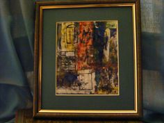 From the Window - Abstract Enamel Picture