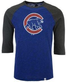 Majestic Men's Chicago Cubs Grueling Raglan T-Shirt - Blue XXL