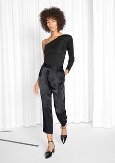 & Other Stories image 2 of Lustrous Suit Trousers in Black