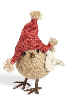 .....oh my! such a cute bird in burlap!! i would never imagine it....but i LOVE it!..