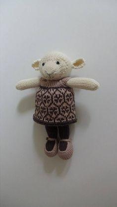 Knitted Girl Sheep Lamb