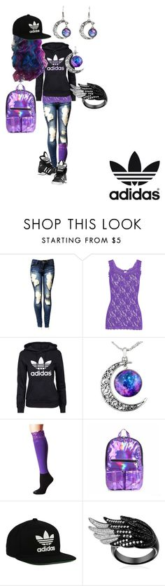 """""""Cosmic Adidas Lady"""" by lushykushylady on Polyvore featuring Hanky Panky, adidas Originals, adidas and Bootights"""