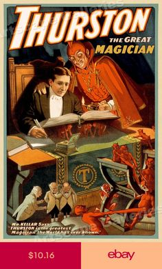 Laurant Witch Of The Flame Casket Magician New Vintage Magic Poster Reproduction