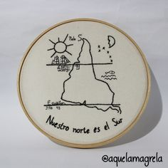 Bordado Nuestro Norte Joaquín Torres García