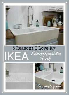 5 Reasons Why I love the IKEA Farmhouse Sink by The Everyday Home / www.everydayhomeblog.com