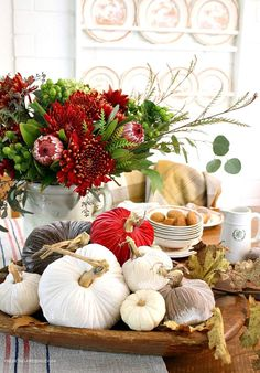Fall Decorating In The Kitchen - French Garden House