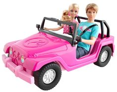 "Barbie and Ken Beach Cruiser - Mattel - Toys ""R"" Us Mattel Barbie, Barbie Und Ken, Barbie Car, Doll Clothes Barbie, Barbie Dolls, Girl Barbie, Barbie Stuff, Dolls Dolls, Doll Stuff"