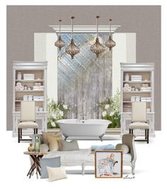 """""""Romantic Shabby"""" by lenadecor ❤ liked on Polyvore featuring interior, interiors, interior design, home, home decor, interior decorating, Oliver Gal Artist Co., Graham & Brown, Home Decorators Collection and Nearly Natural"""