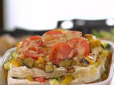 Lasagne di pancarrè con verdure e formaggio filante