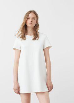 Vestido recto algodón  -  Mujer | MANGO España