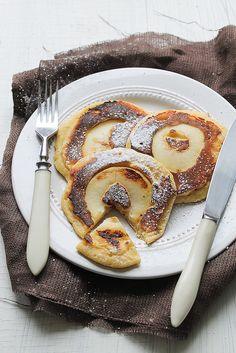 Pea Flour Pancakes with Apple Ring via My Kitchen Affair