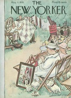 Helen E. Hokinson : Cover art for The New Yorker 546 - 3 August 1935
