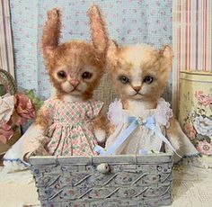 Unable to afford the necessary electrolysis, Putty-babe cried ceaselessly until her parents gave into her pleas and allowed her to have her ears surgically cropped.  It wasn't all that her ego desired, but it was enough to give her an edge over her now-uglier twin sister.