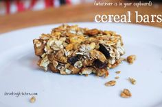 (whatever is in your cupboard) Cereal Bars