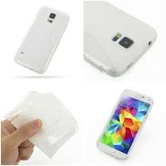 PDair Soft Plastic Case for Samsung Galaxy S5 SM-G900 (Transparent/S Shape pattern)