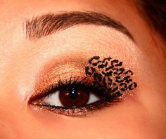 Fierce leopard hand design!
