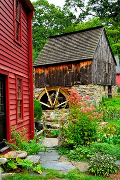 Grist Mill at the Gilbert Stewart birthplace, Rhode Island