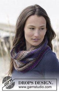 "Crochet DROPS neck warmer in ""Delight"". ~ DROPS Design"