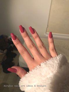 Sarg Acryl Burgunder Winter Herbstfarben Sarg Acryl Burgunder … – Cute nails – Many women … Acrylic Nails Coffin Short, Simple Acrylic Nails, Summer Acrylic Nails, Best Acrylic Nails, Coffin Acrylics, Summer Nails, Winter Nails, Pastel Nails, Burgundy Acrylic Nails