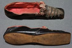 Shoes belonging to Princess Pauline Borghese nee Bonaparte, younger sister of Napoleon