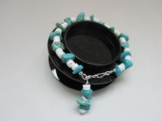 SALE  Blue Turquoise Magnesite Bracelet  No by MoYuenCreations, $12.00