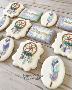 Lovely cookies for a dreamer. Grandma Cookies, Logo Cookies, Star Cakes, Boho Theme, 12th Birthday, Cookie Designs, Decorated Cookies, Rodeo, Cookie Decorating