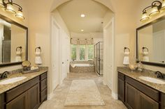 1000 images about havenwood at hunters crossing stucco for Model bathrooms pictures
