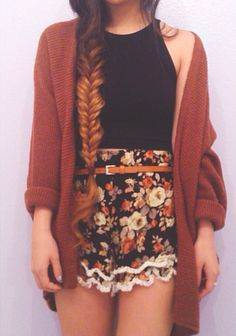 Gorgeous, ombre fishtail braid. <3
