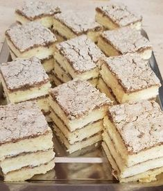 Hungarian Desserts, Easy Desserts, Feta, Food To Make, Food And Drink, Yummy Food, Sweets, Bread, Snacks