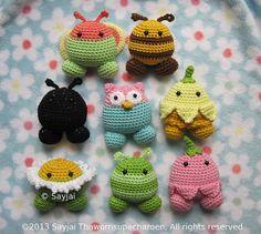 Ravelry: Garden Pals Amigurumi Crochet Pattern pattern by Sayjai Thawornsupacharoen