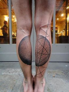 geometric tattoo, this is badass!! esp. when they are on some great lookin' legs!