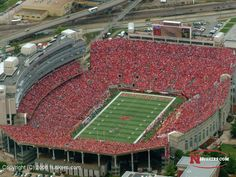 Memorial Stadium Lincoln, Ne. Nothing prettier than a sea of red Cornhuskers!!